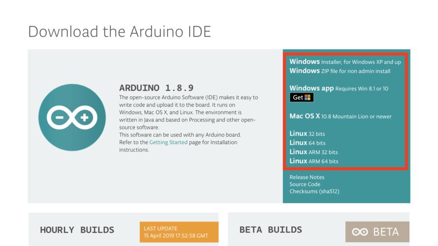 Arduino 1.8.9