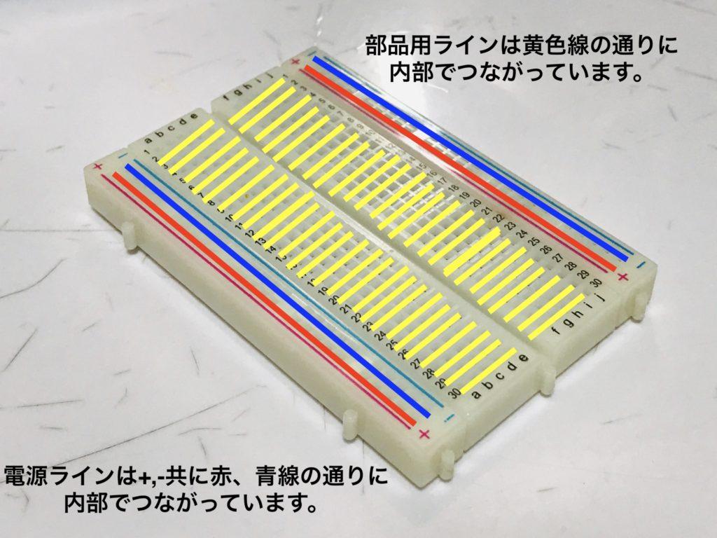ブレッドボード内部配線図