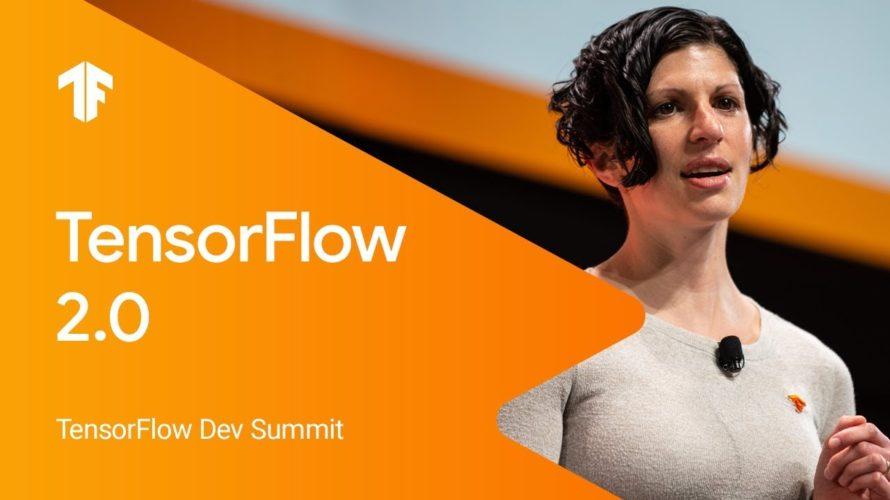 TensorFlow 2.0 keynote
