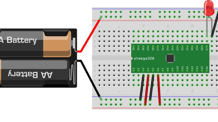 【外付水晶なしで超省電力化】Arduino チップ単体動作(ATMEGA328P-AU使用)